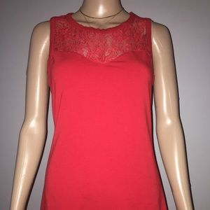 Express women's sleeveless red top size M
